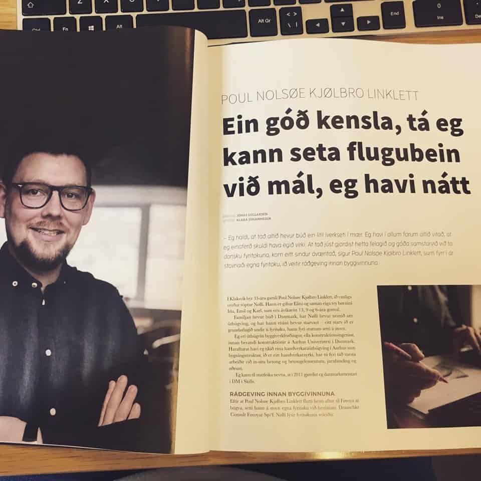 Poul í nýggjastu útgávuni av  Vinnulívið