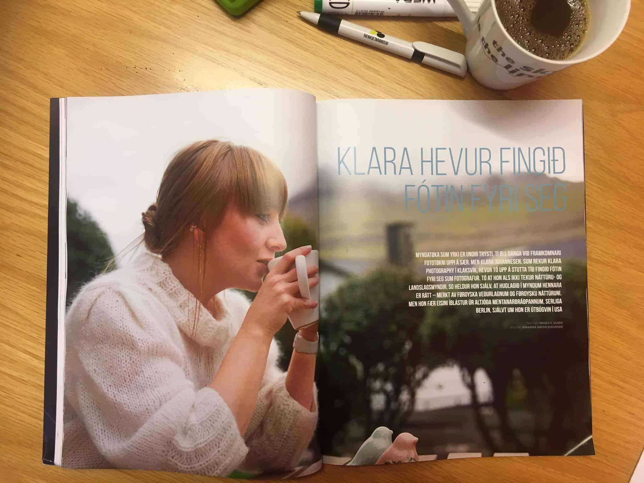 Okkara Klara í nýggjastu útgávuni av Vinnulívið