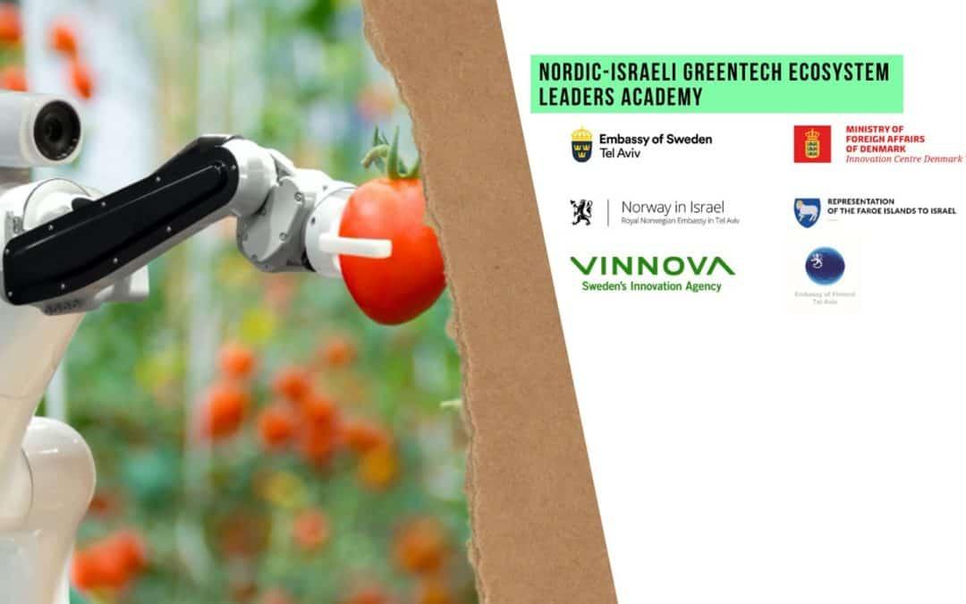 Sendistovan í Ísrael fyriskipar Nordic-Israeli GreenTech Ecosystem Leaders Academy