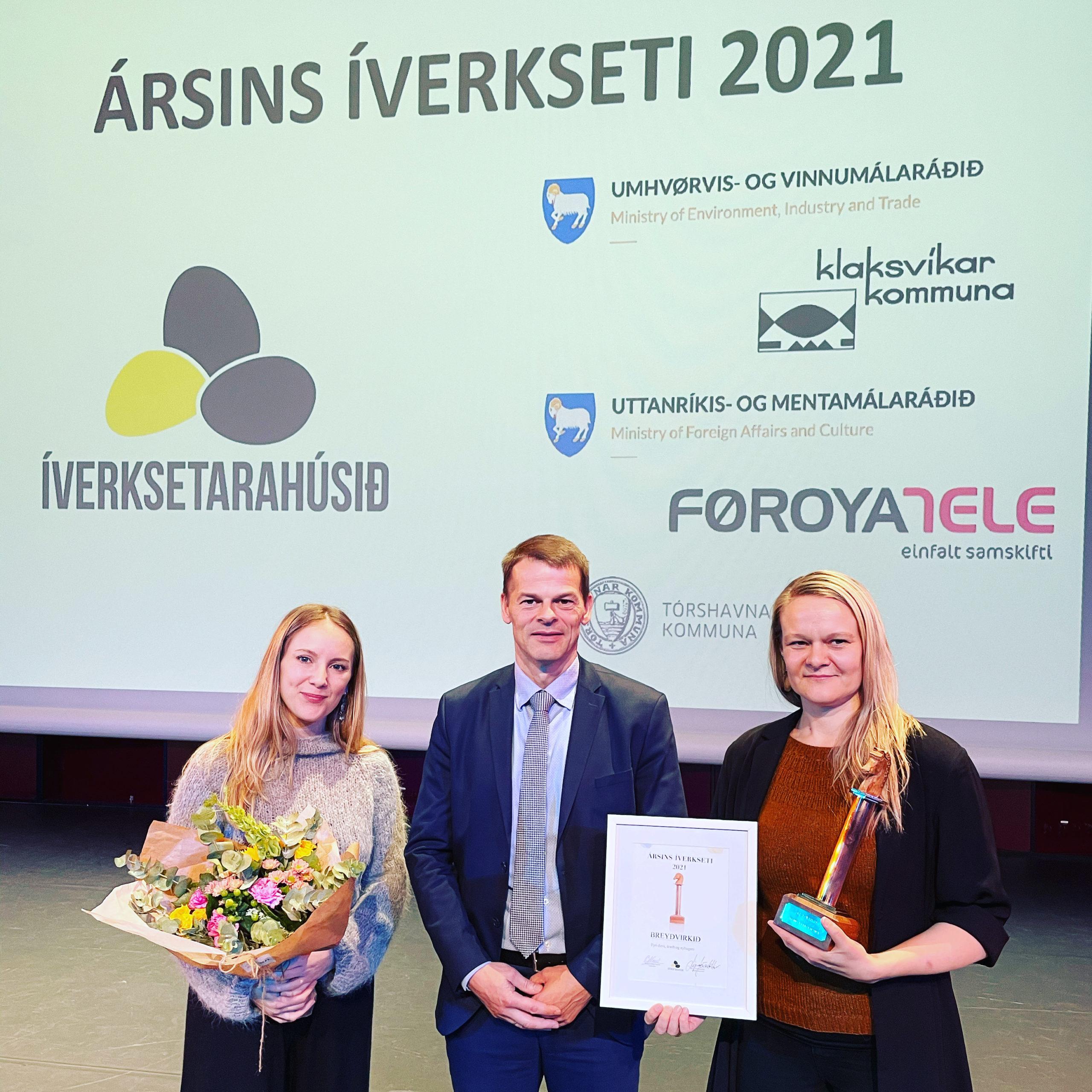 Breyðvirkið fekk heiðurin sum Ársins íverksetari 2021